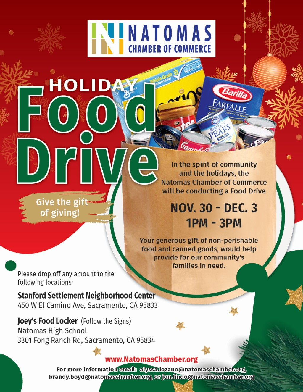 NCC_Holiday Food Drive flyer