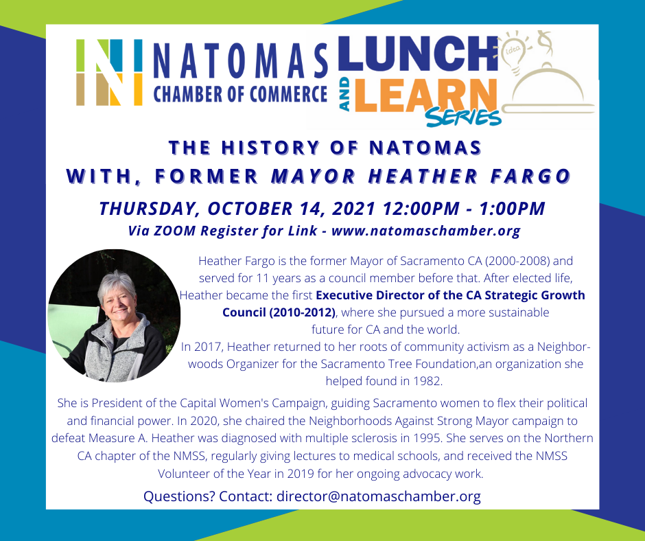 OCT. Lunch & Learn Heather Fargo